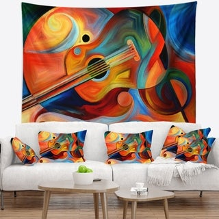 Designart 'Music and Rhythm' Abstract Wall Tapestry