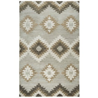 """Rizzy Home Leone Hand-Tufted 2'6"""" x 10' Runner Rug, Gray"""