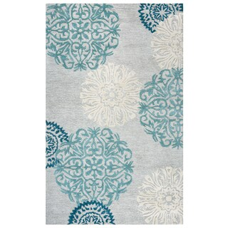 """Rizzy Home Dimensions Hand-Tufted 2'6"""" x 10' Runner Rug, Blue"""