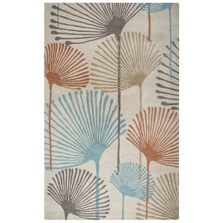 """Rizzy Home Cabot Bay Hand-Tufted 2'6"""" x 8' Runner Rug, Aqua"""