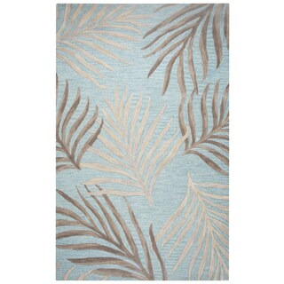 """Rizzy Home Cabot Bay Hand-Tufted 2'6"""" x 8' Runner Rug, Seafoam"""