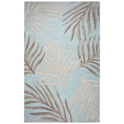 "Rizzy Home Cabot Bay Hand-Tufted 2'6"" x 8' Runner Rug, Seafoam"