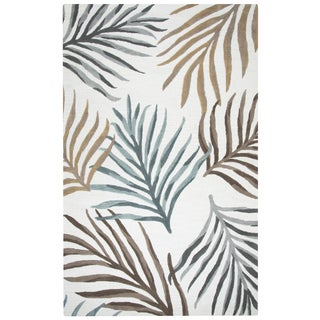 """Rizzy Home Cabot Bay Hand-Tufted 2'6"""" x 8' Runner Rug, Cream"""