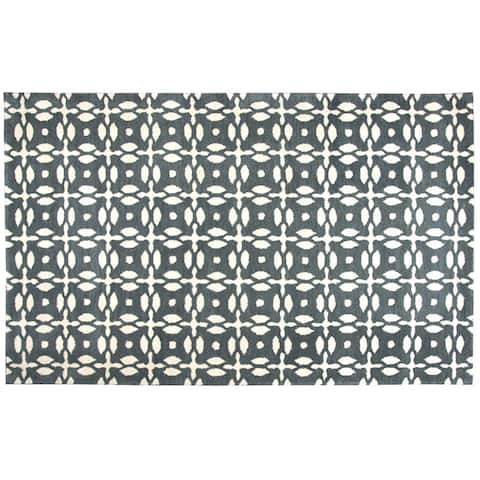 Rizzy Home Opus Hand-Tufted 8' Round Rug, Grey