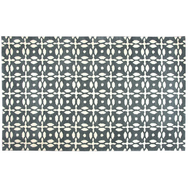 Rizzy Home Opus Hand-Tufted 8' Round Rug, Grey. Opens flyout.