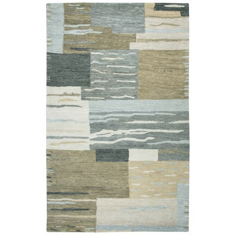 Rizzy Home Leone Hand-Tufted 8' Round Rug, Neutral