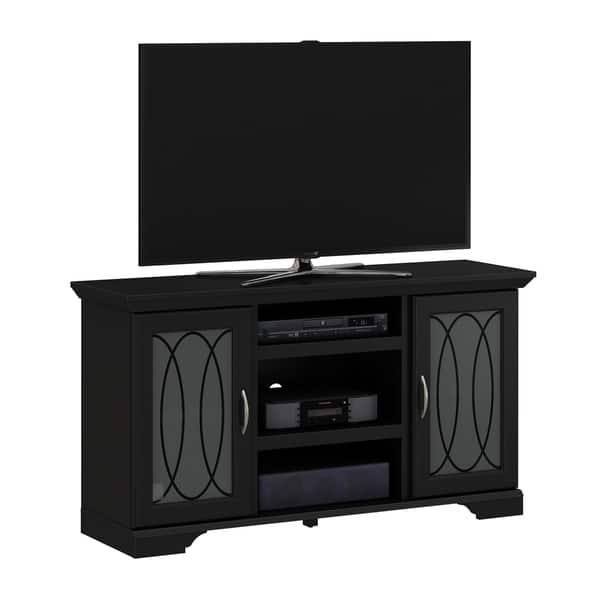 Winfield Tv Stand For Tvs Up To 55 Black Overstock 20888861