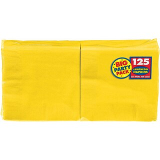 "Big Party Pack Luncheon Napkins 6.5""X6.5"" 125/Pkg"