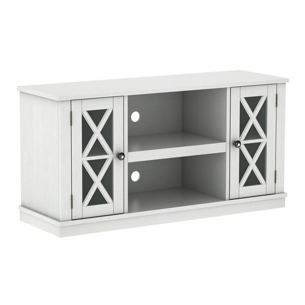 Bayport Tv Stand For Tvs Up To 55 Inches White Free Shipping