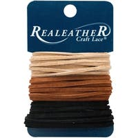"Realeather Crafts Sof-Suede Lace .094""X8yd Carded"