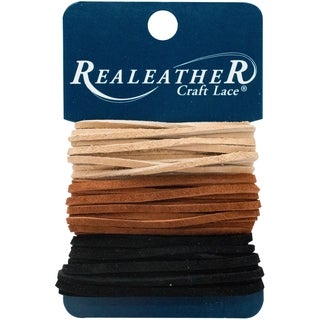 """Realeather Crafts Sof-Suede Lace .094""""X8yd Carded"""