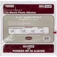 Pioneer 6-Up Refill Pages 6/Pkg