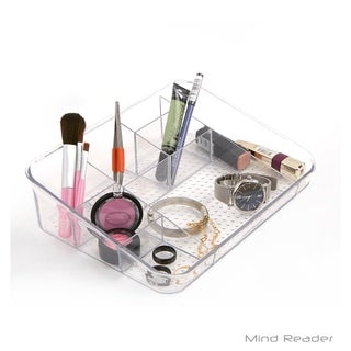 Mind Reader Acrylic 7 Compartment Cosmetic Organizer, Clear