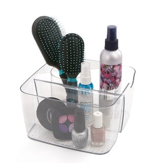 Mind Reader Acrylic 5 Compartment Cosmetic Organizer, Clear
