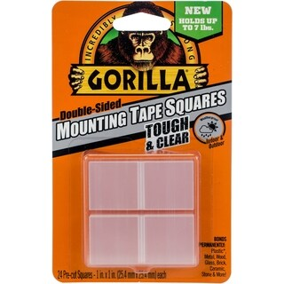 """Gorilla Double-Sided Mounting Tape Squares 1""""X1"""" 24/Pkg"""