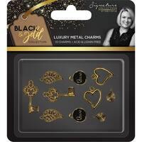 Sara Davies Signature Black & Gold Metal Charms