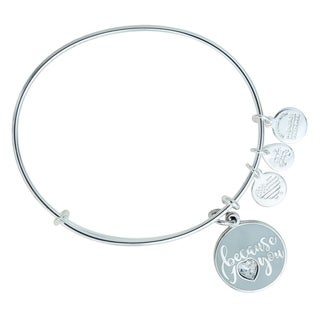Alex and Ani Because I Love You Bangle - Silver