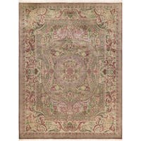 Abusson Pak-Persian Carolina Brown/Lt. Gray Wool Rug (9'1 x 12'4) - 9 ft. 1 in. x 12 ft. 4 in.