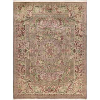 "Abusson Pak-Persian Carolina Brown/Lt. Gray Wool Rug - 9' 1"" x 12' 4"""