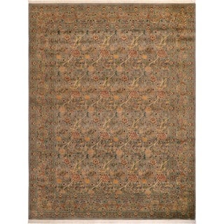 Pak-Persian Matilde Gray/Red Wool Rug (9'2 x 12'4) - 9 ft. 2 in. x 12 ft. 4 in.