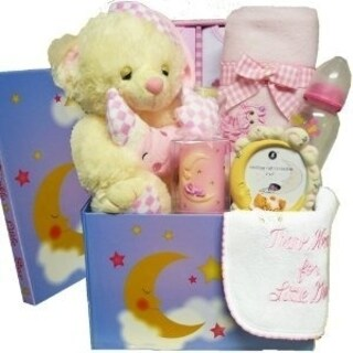 Twinkle Twinkle Little Star Baby Care Package Gift Box, Blue Boys or Pink Girls