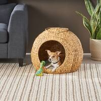 Anya Hyacinth Dog Bed with Cushion by Christopher Knight Home