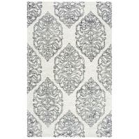 Rizzy Home Opulent Ivory Handmade Wool Area Rug - 9' x 12'