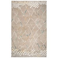 Rizzy Home Marianna Fields Natural-color Handmade Wool Rug - 9' x 12'