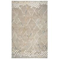 Rizzy Home Marianna Fields Hand-Tufted Natural Wool Area Rug (8' x 10')
