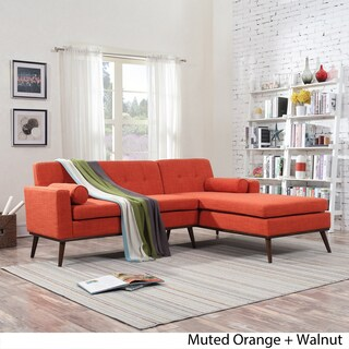 Stormi Mid Century Modern 2-Piece Mut Sectional Sofa and Lounge Set by Christopher Knight Home