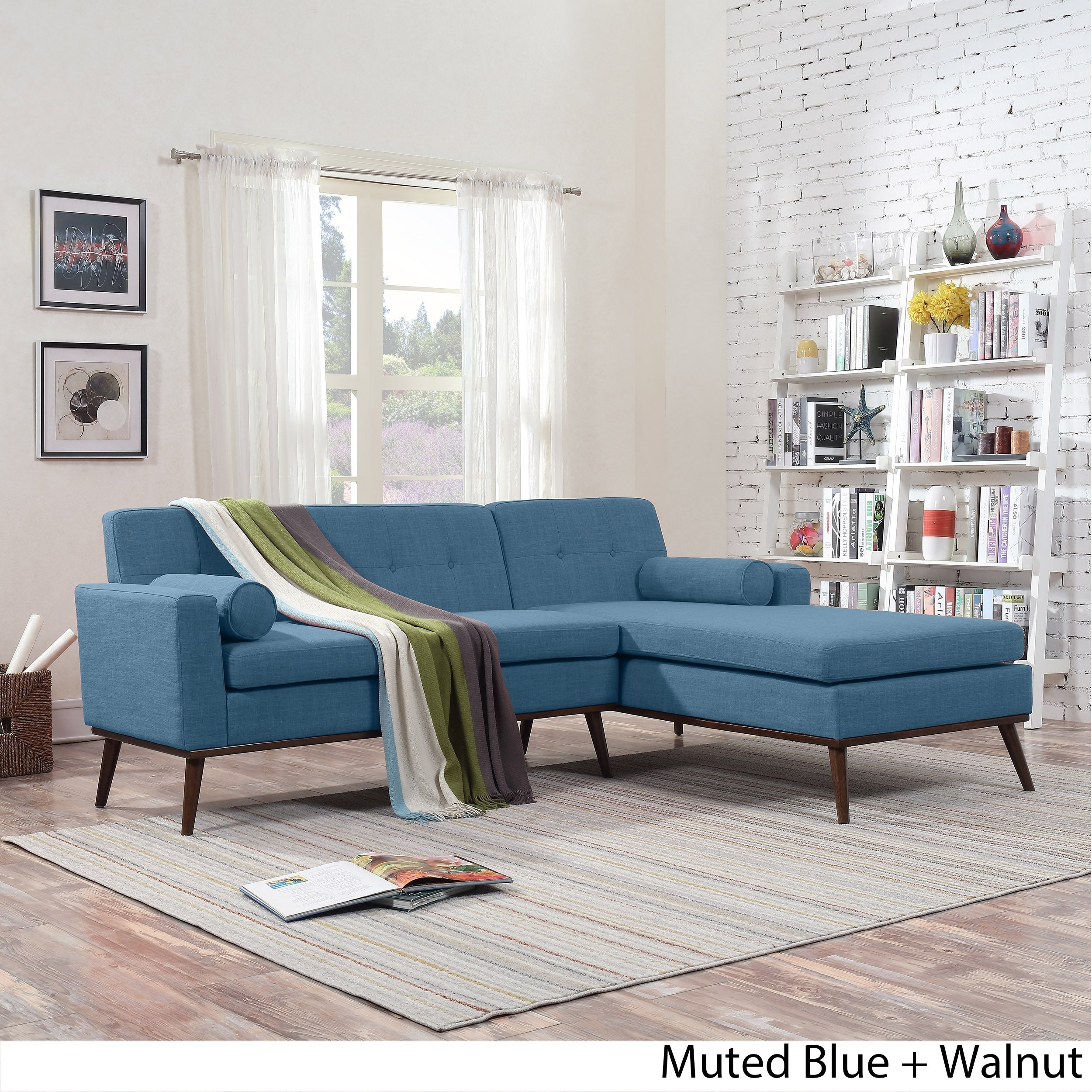 Miraculous Stormi Mid Century Modern 2 Piece Mut Sectional Sofa And Lounge Set By Christopher Knight Home Onthecornerstone Fun Painted Chair Ideas Images Onthecornerstoneorg