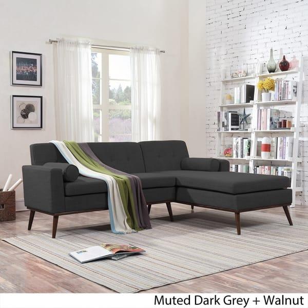 Shop Stormi Mid Century Modern 2-Piece Mut Sectional Sofa ...