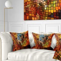 Designart 'Dreaming of Stained Glass' Abstract Throw Pillow
