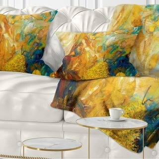 Designart 'Abstract Yellow Collage' Abstract Throw Pillow