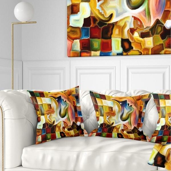 Designart 'Way of Inner Paint' Abstract Throw Pillow