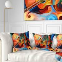 Designart 'Music and Rhythm' Abstract Throw Pillow