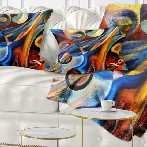 Designart 'Abstract Music and Rhythm' Abstract Throw Pillow