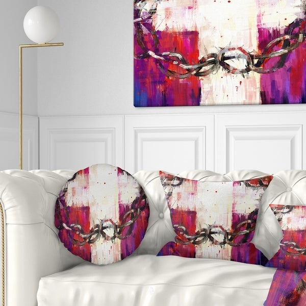 Designart 'Crown of Thorns' Abstract Throw Pillow