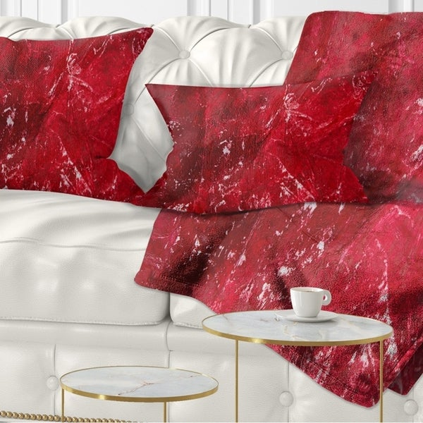 Designart 'Abstract Red Texture' Abstract Throw Pillow