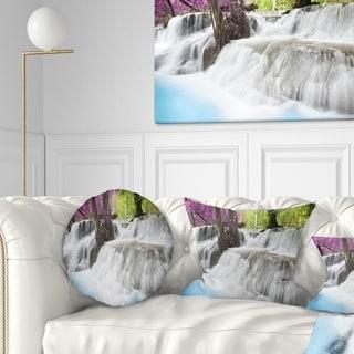 Designart 'Erawan Waterfall' Photography Throw Pillow