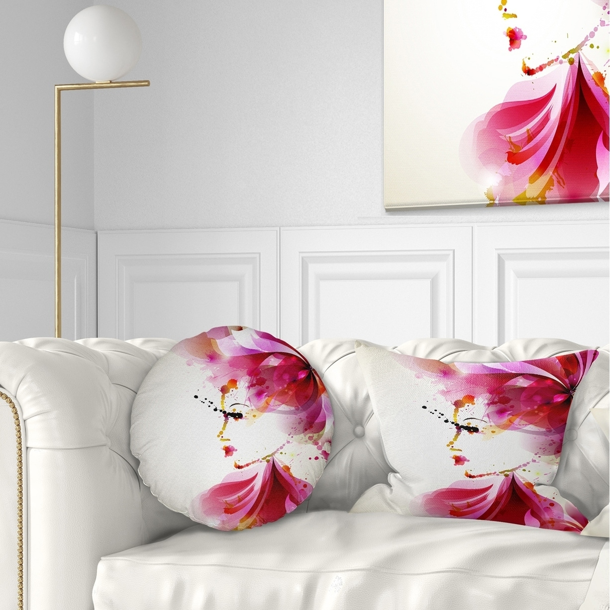 Designart Fashion Woman With Abstract Hair Abstract Throw Pillow On Sale Overstock 20890060