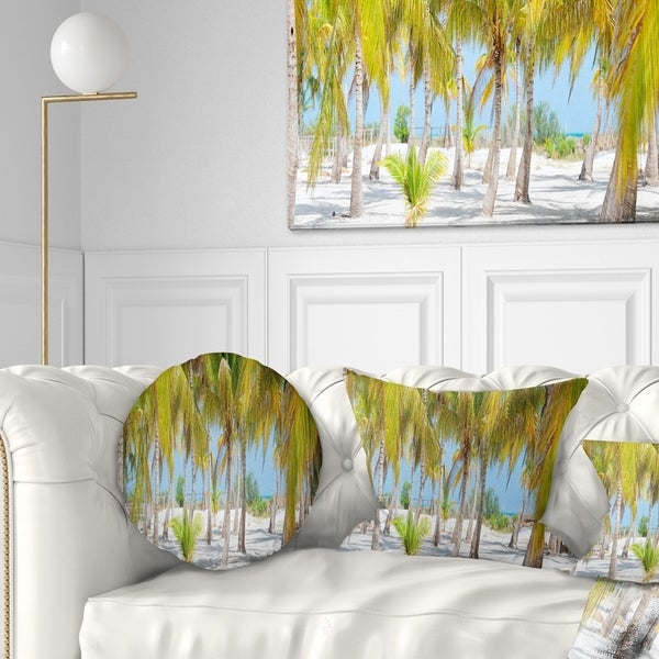 Designart 'Palm Trees' Landscape Photography Throw Pillow