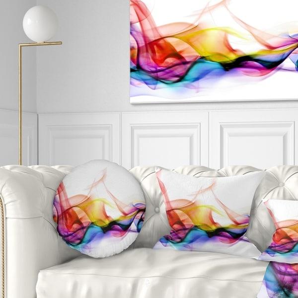 Designart 'Abstract Smoke' Contemporary Throw Pillow