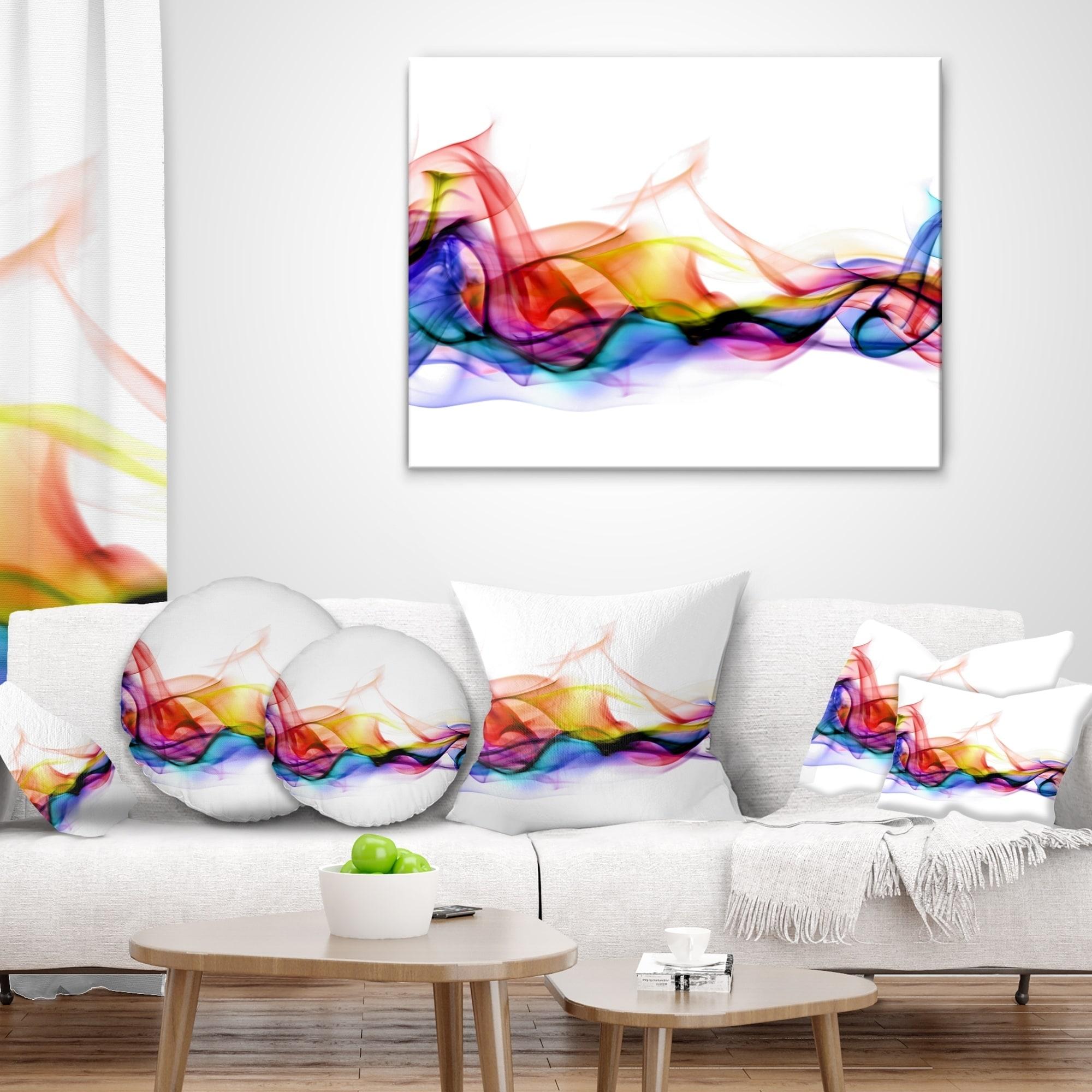 Designart \'Abstract Smoke\' Contemporary Throw Pillow