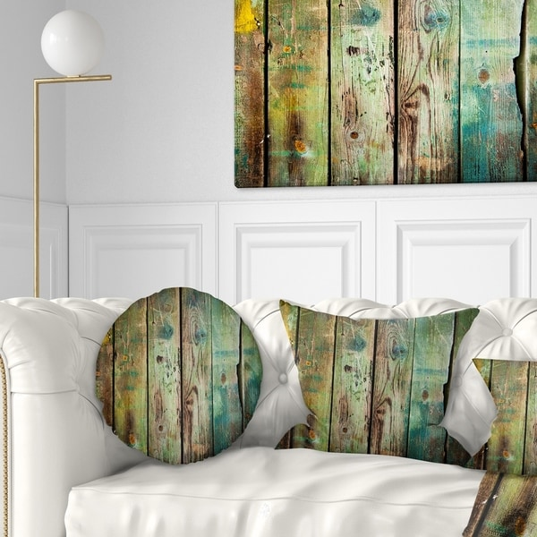 Designart 'Old Wood Pattern' Contemporary Throw Pillow