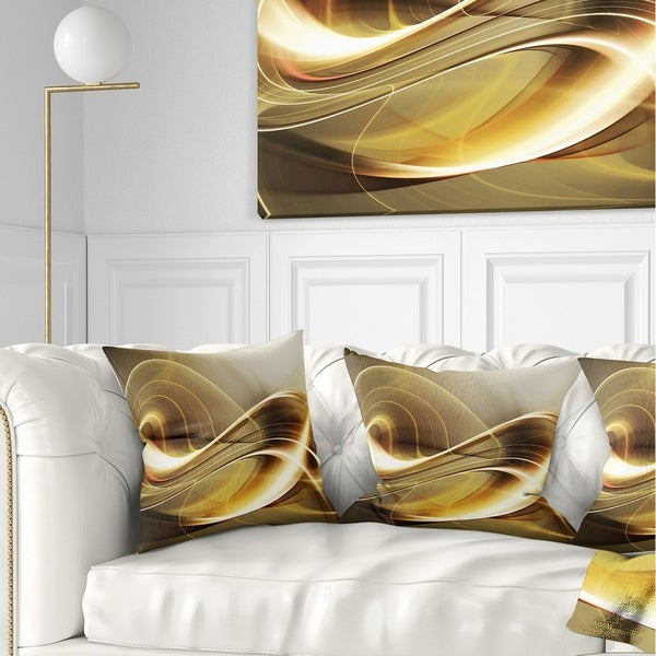 Sofa Pillows Contemporary: Shop Designart 'Elegant Modern Sofa' Abstract Throw Pillow