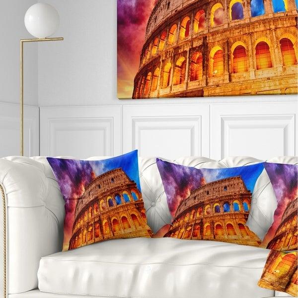 Designart 'Colosseum Rome Italy' Monumental Photo Throw Pillow