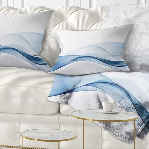 Designart '3D Wave of Water Splash' Abstract Throw Pillow
