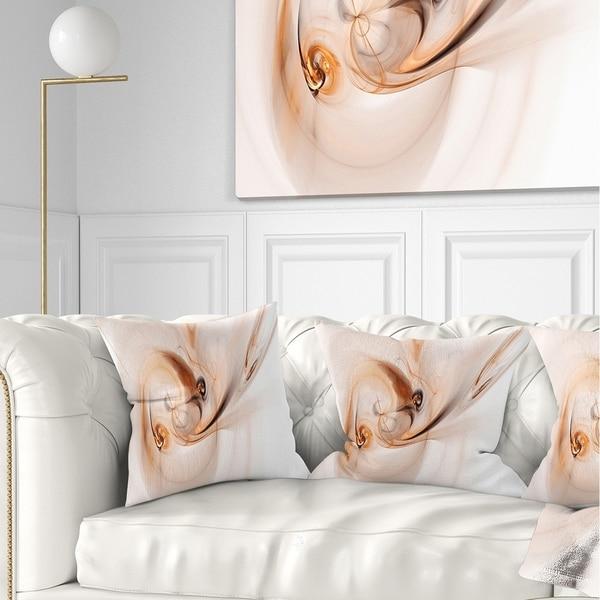 Designart 'Spiral Nebula Space Orange' Abstract Throw Pillow