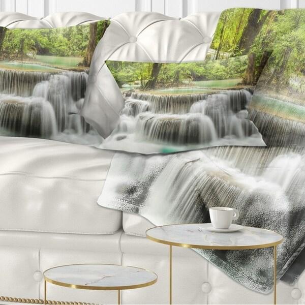 Designart 'Kanchanaburi Erawan Waterfall' Photography Throw Pillow